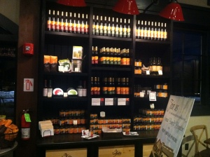 Display of cooking wines and Jellies.